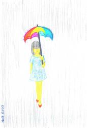 RainyGirl ColorPencilArt