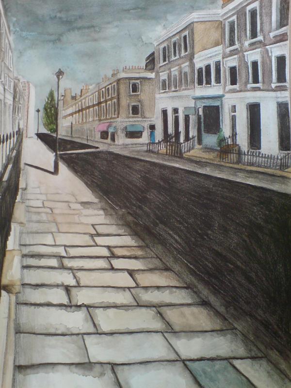 The Empty Street by Rainycatz