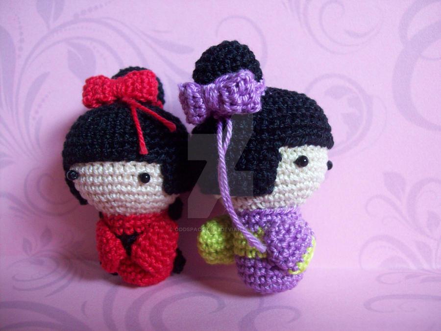 Free Amigurumi Kokeshi Doll Patterns : Amigurumi kokeshi dolls by oddspaceball on deviantart