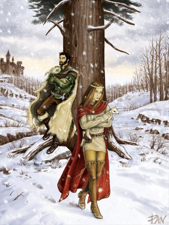 Twins on Winter by Panaiotis