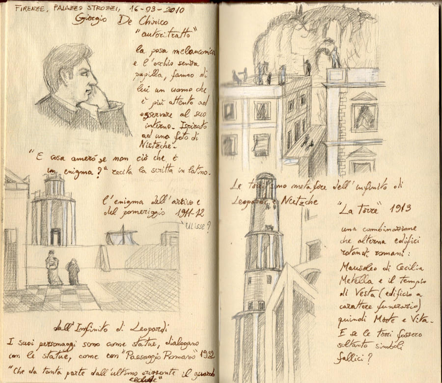 Pages of the notebooks by Panaiotis