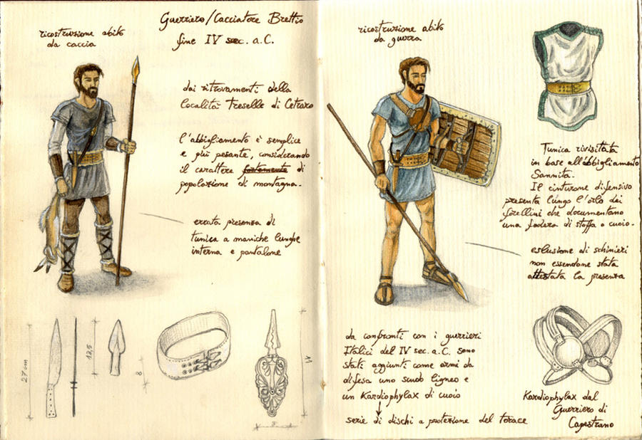 Archaeological reconstruction warrior Brettiian 01 by Panaiotis