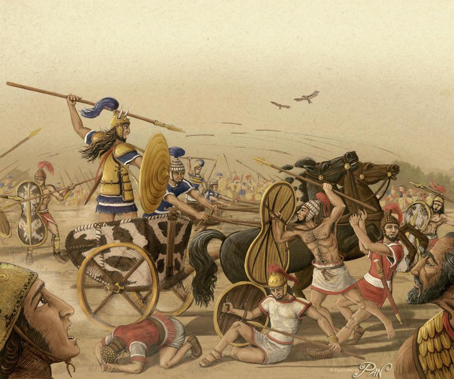 Epic Battle, Achaeans vs Trojans by Panaiotis