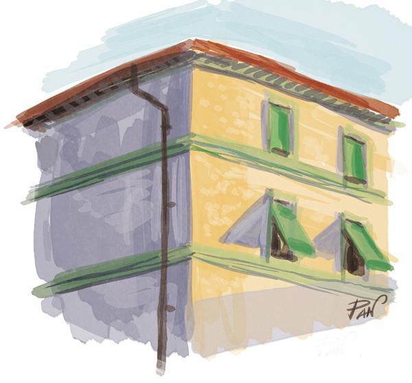 The building across the street by Panaiotis