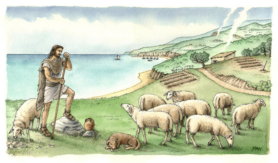 Brettiian pastoral scene by Panaiotis