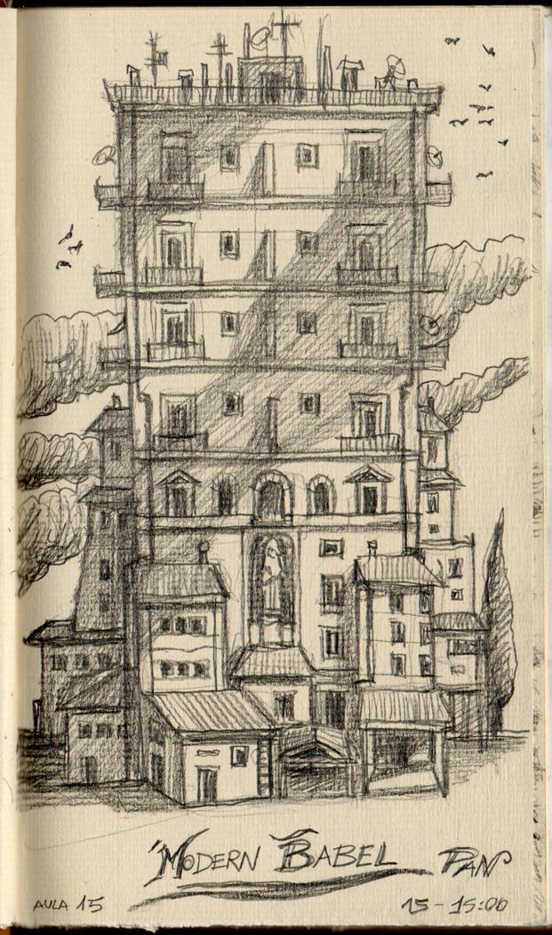 Modern Babel Tower by Panaiotis