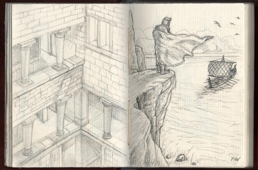 Myth sketches by Panaiotis