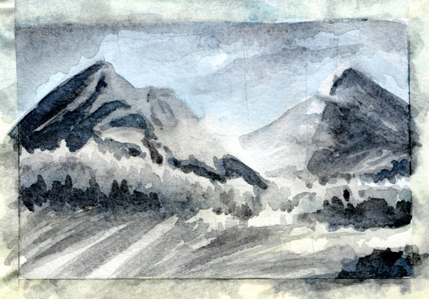 Cold Mount - sketch by Panaiotis