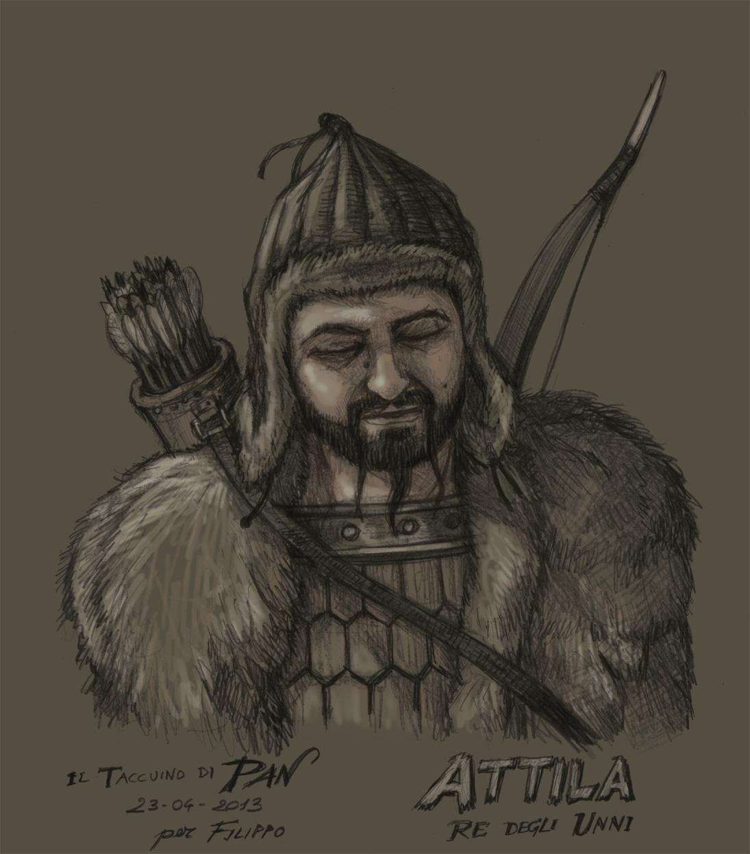 Attila, Ruler of the Hunnic Empire by Panaiotis