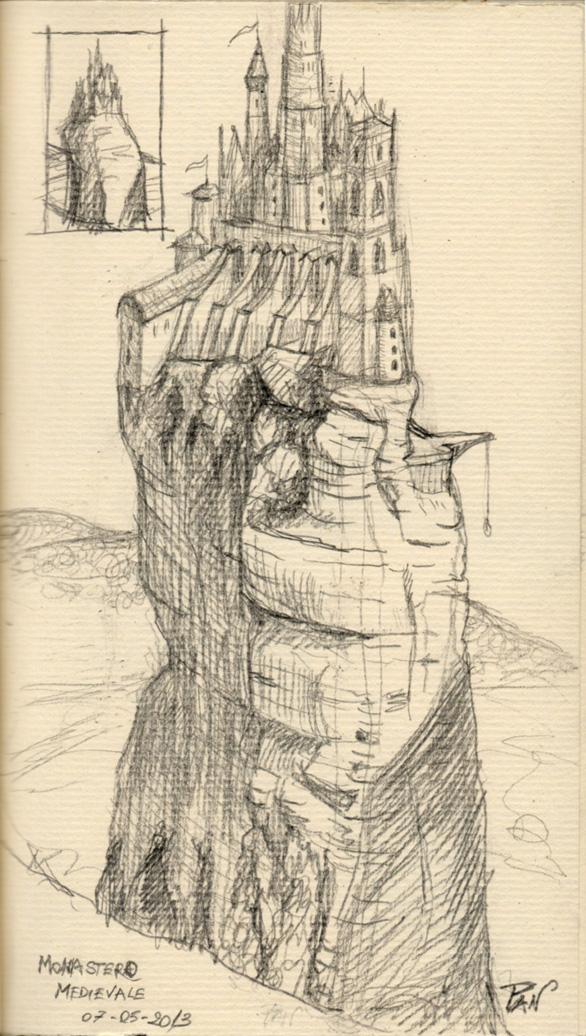 Medieval monastery by Panaiotis