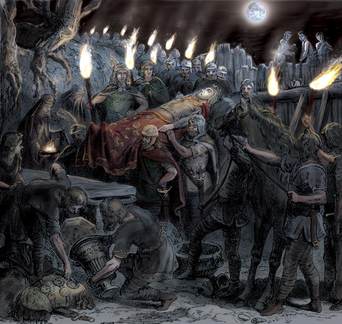 Burial of Alaric by Panaiotis