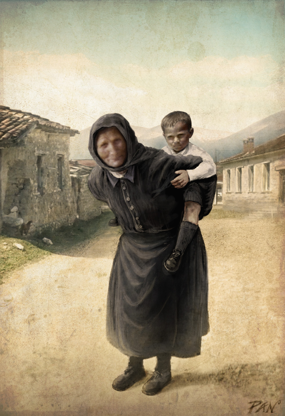 At the time of the great-grandparents by Panaiotis