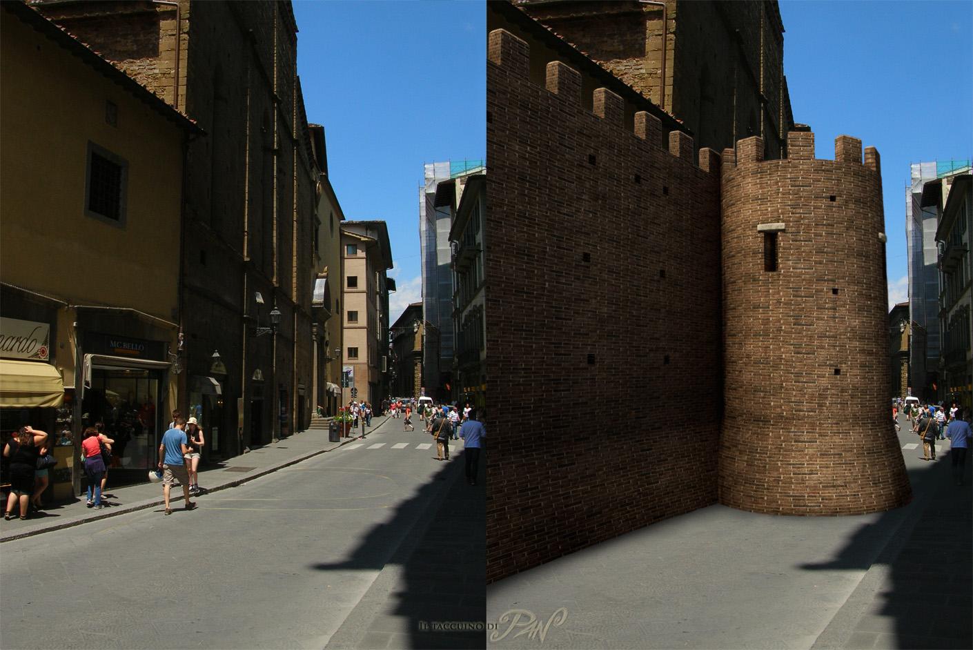 Roman defensive walls (Florence) by Panaiotis