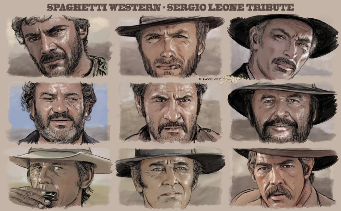 Spaghetti Western Sergio Leone tribute by Panaiotis