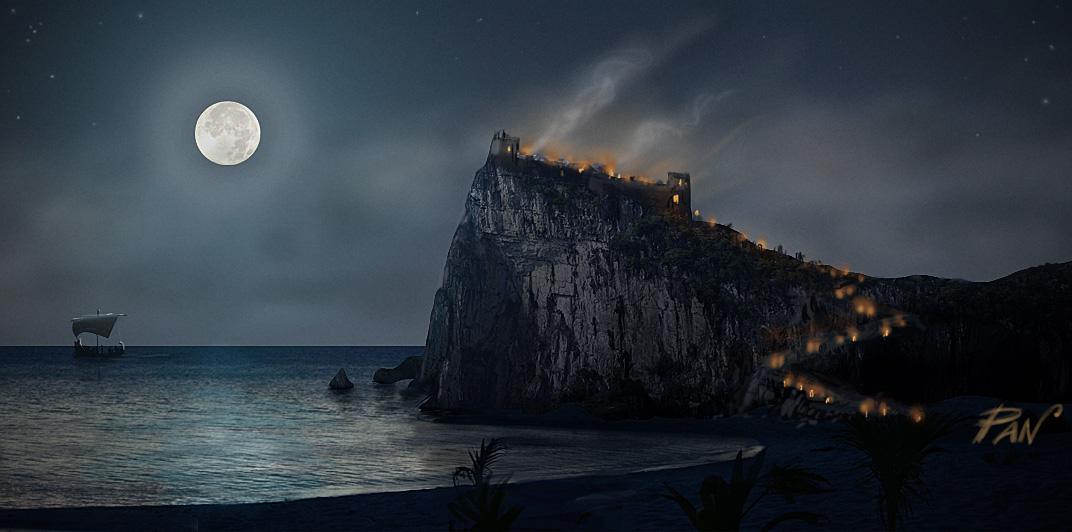Rocca notturna by Panaiotis