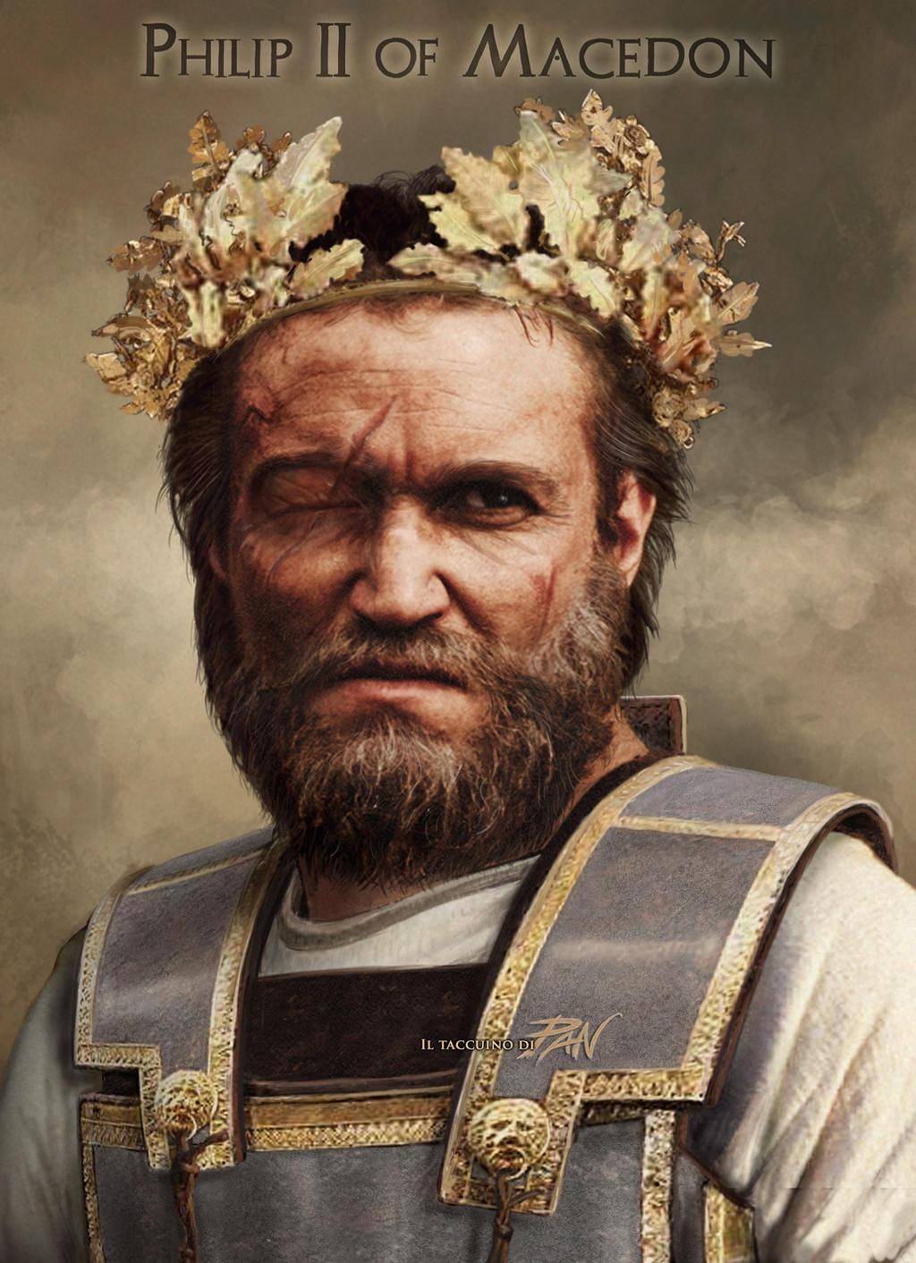 Philip II of Macedon by Panaiotis