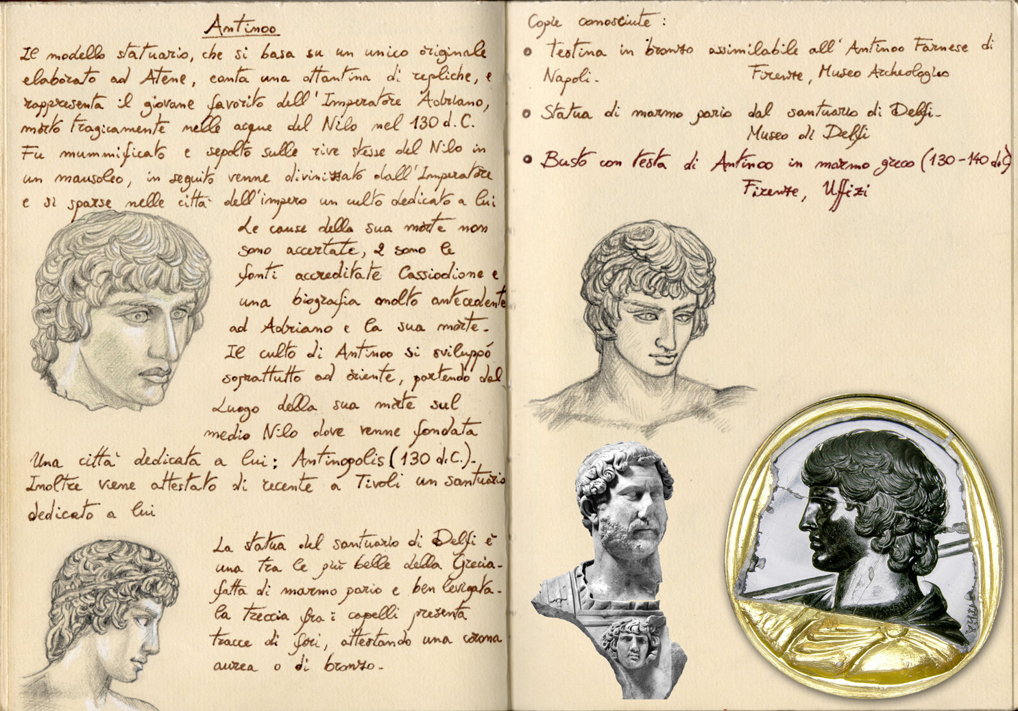 Antinous Death by Panaiotis