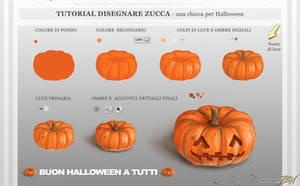 Tutorial Disegnare Zucca di Halloween by Panaiotis