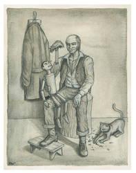 Geppetto e Pinocchio by Panaiotis