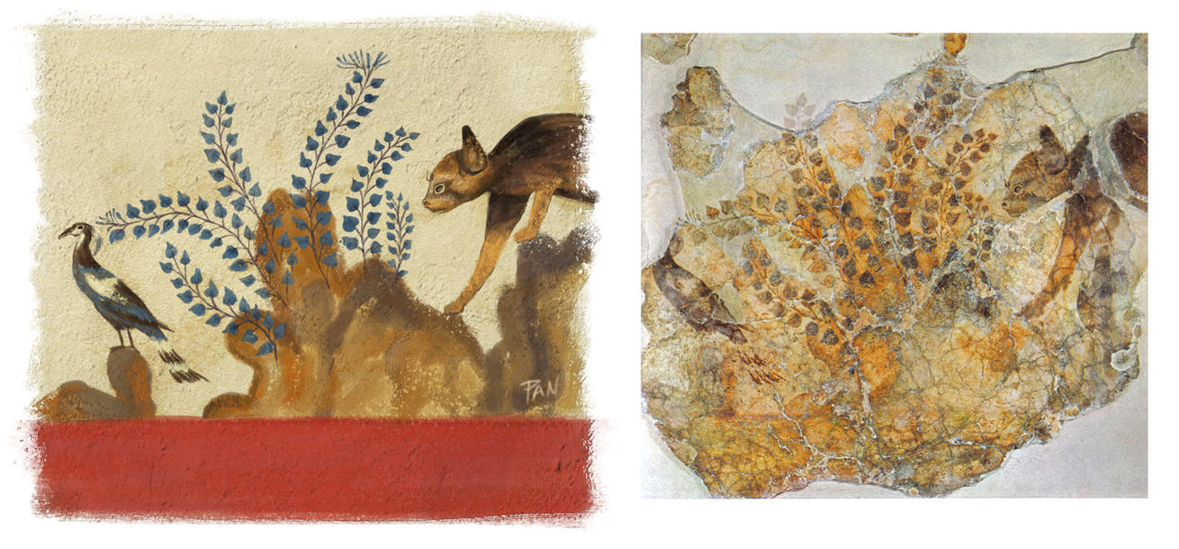 Minoan fresco (restoration) by Panaiotis