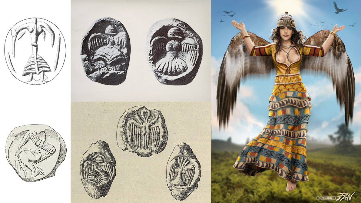 Minoan Eagle Lady (ancient divinity) by Panaiotis