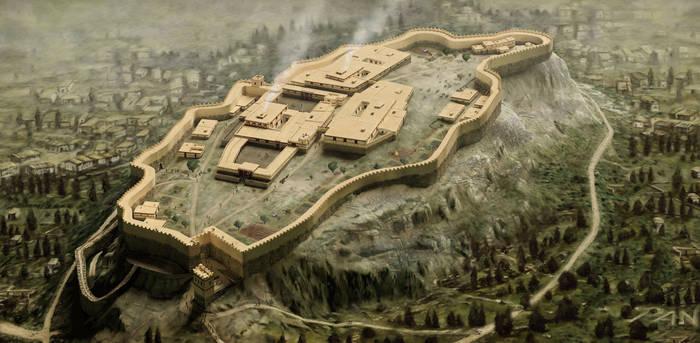 Acropoli di Atene volo d'uccello (1200 a.C.) - PaN