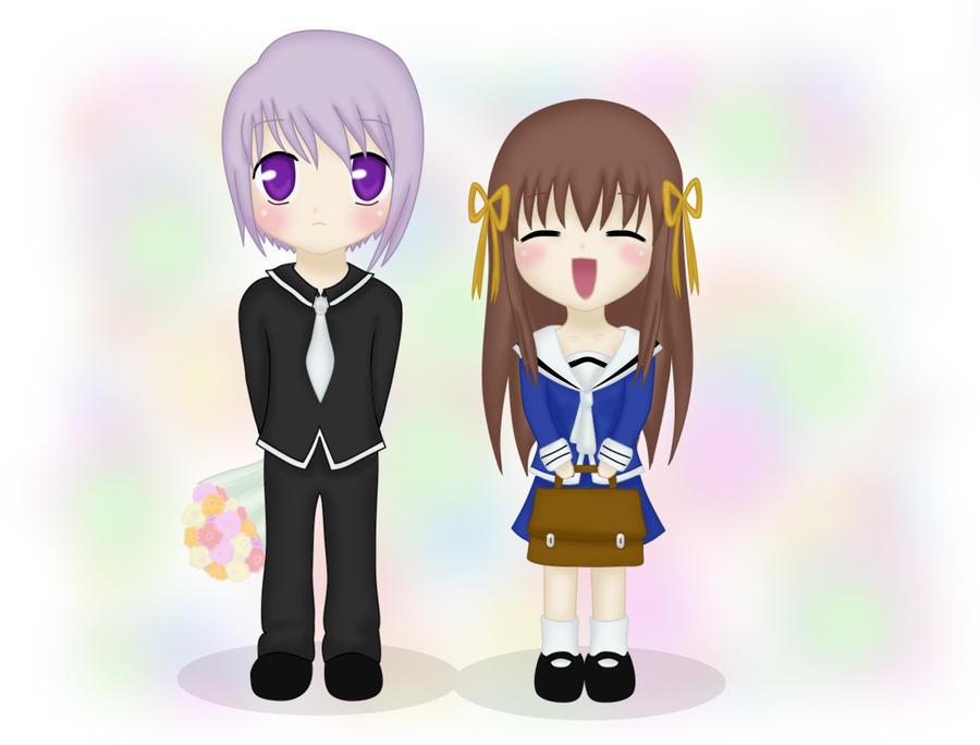 Yuki and Tohru by Lunatta