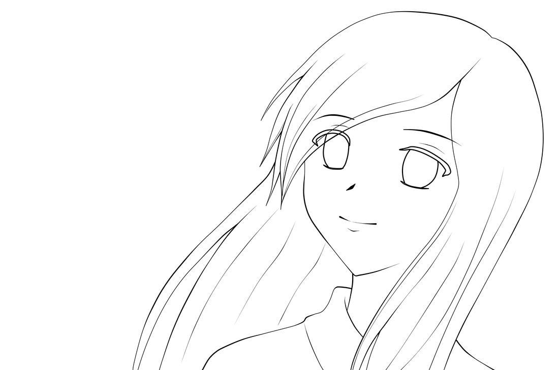 Line Art Vs Sketch : Kimono girl lineart by lunatta on deviantart