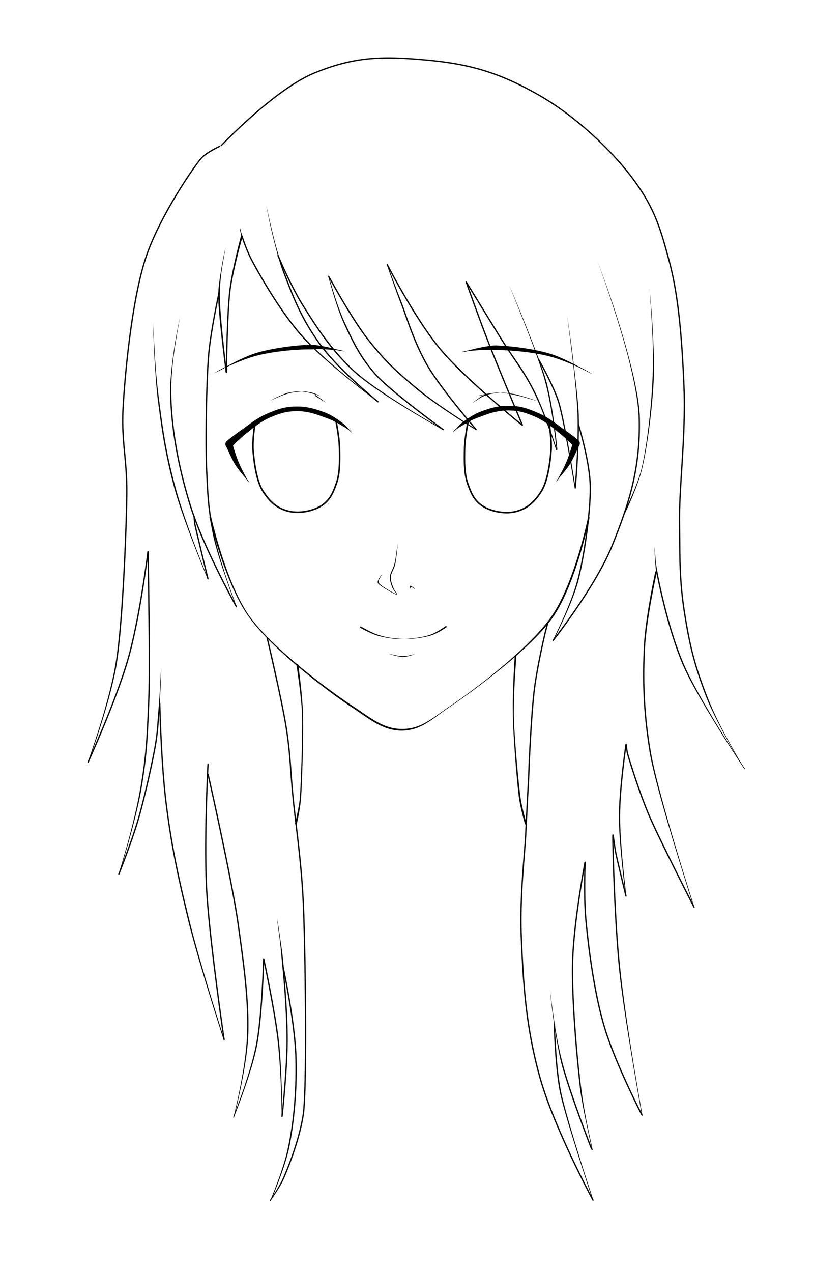 Anime Girl Lineart : Anime girl lineart by lunatta on deviantart
