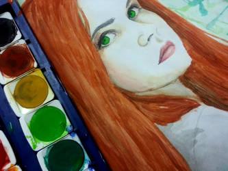 First Watercolors Portrait by Lunatta