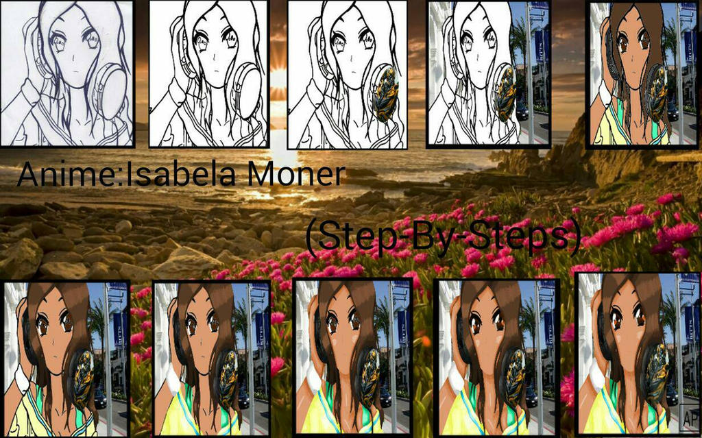 Anime:Isabela Moner (Step-By-Steps) by mlpariana