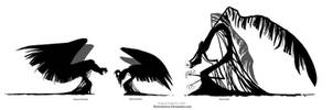 Crows and elder crow by CottonValent