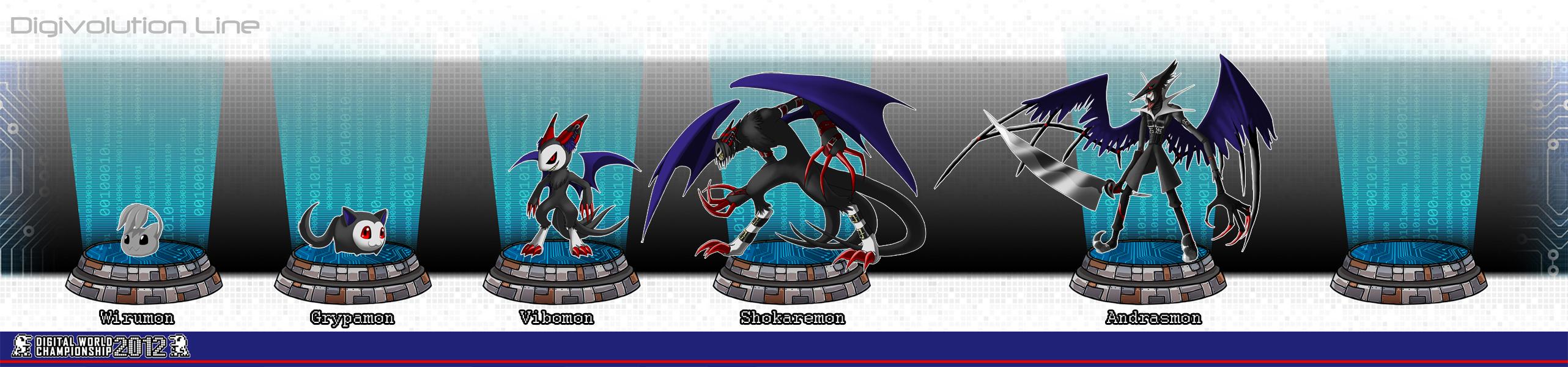 Demidevimon Evolution Line DWC: Vibomon Digivolut...
