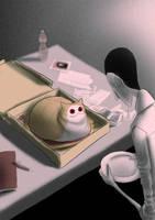 CreepyCat 03 - Pizza by CottonValent