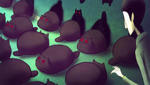 Creepy Cat 16 - Black cat path by CottonValent