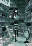 Black cat bookstore by CottonValent