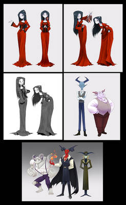 Pixie The Devil's Daughter - Characters