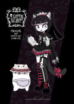 Curry cat with lolita punk maid