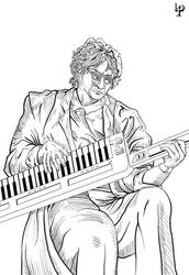 Jarre on Keytar