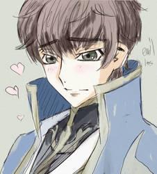 Kururugi Suzaku(sketch) by EvilInspiration