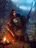 Forest Warrior by Elistraie