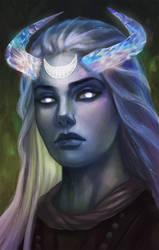 Moon godlike by Elistraie