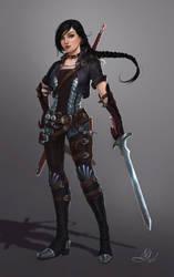 Duelist armor concept by Elistraie