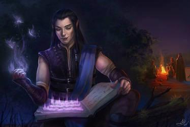 Pillars of Eternity 2: Deadfire Aloth fanart by Elistraie