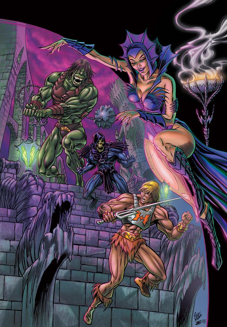 He-Man versus Megator by KoShiatar