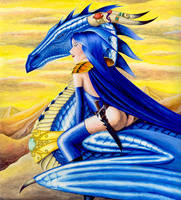 Sapphire Dragon by KoShiatar