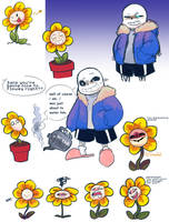 another sans. also Flowey by sheebal