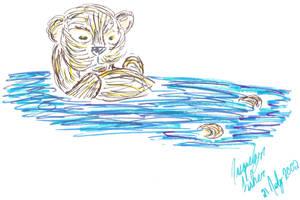 Playful Otter by jacquelynvansant