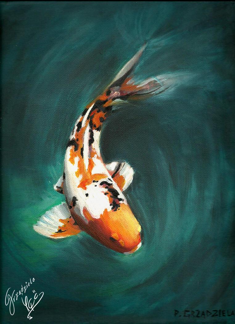 Koi the dragon fish by grzadziela on deviantart for Dragon koi fish