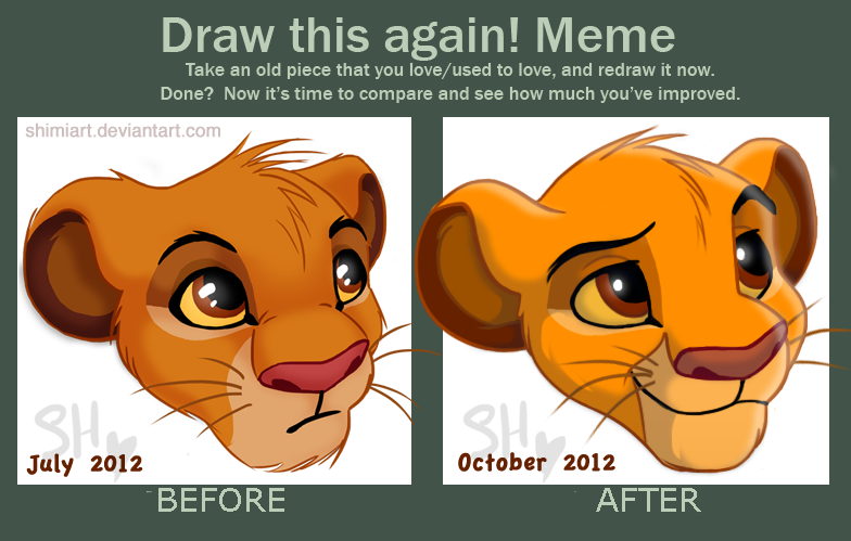 Draw This Again - Simba Headshot by ShimiArt